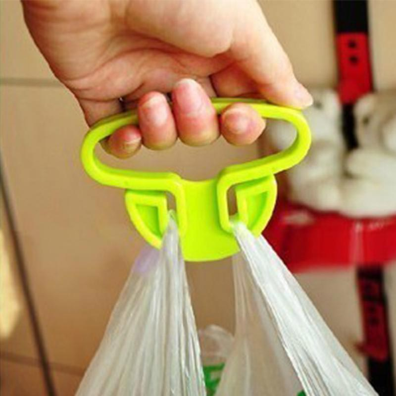 Holder for plastic bags